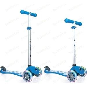 цена на Самокат 3-х колесный Y-Scoo GLOBBER PRIMO Fantasy с 3 светящимися колесами SMILING Sky Blue (6487)