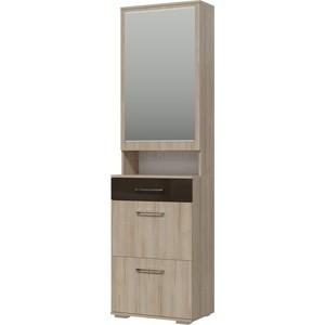Прихожая Гранд Кволити Ривьера 2-3510 шкаф с зеркалом /дуб ривьера /шоколад глянец