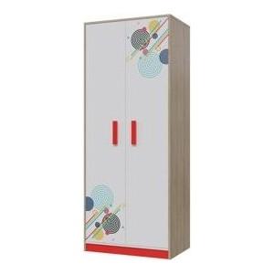 Шкаф для одежды Гранд Кволити Фантазия 6-9423 дуб ривьера белый/красный (чили)