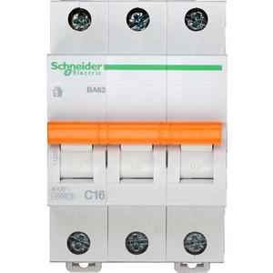 Выключатель автоматический модульный Schneider Electric 3п C 16А 4.5кА BA63 Домовой (11223)