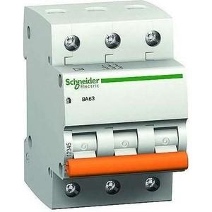 Выключатель автоматический модульный Schneider Electric 3п C 32А 4.5кА ВА63 Домовой (11226)