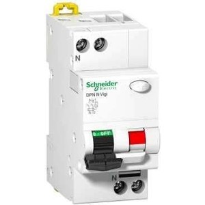 Выключатель автоматический дифференциального тока Schneider Electric 2п (1P+N) C 16А 30мА тип AC 6кА DPN VIGI N SchE A9N19665 сименс siemens 5sj61167cr стандартный одноступенчатый 16а мини выключатель 1p бытовой выключатель питания