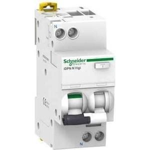 Выключатель автоматический дифференциального тока Schneider Electric 2п (1P+N) C 16А 30мА тип AC 6кА iDPN N VIGI SchE A9D31616 сименс siemens 5sj61167cr стандартный одноступенчатый 16а мини выключатель 1p бытовой выключатель питания