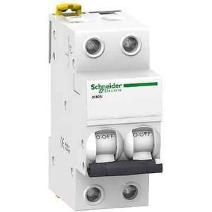 Выключатель автоматический модульный Schneider Electric 2п C 16А 6кА iK60 Acti9 SchE A9K24216 автоматический модульный выключатель abb 2п c sh202l 4 5ка 16а 2cds242001r0164