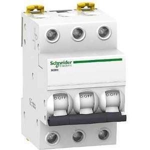 Выключатель автоматический модульный Schneider Electric 3п C 50А 6кА iK60 Acti9 SchE A9K24350 abb выключатель авт мод 3п c 50а s203 6ка abb 2cds253001r0504