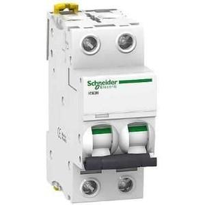 Выключатель автоматический модульный Schneider Electric 2п C 16А 6кА iC60N Acti9 SchE A9F79216 выключатель автоматический модульный legrand 2п c 16а 6ка tx3 404042