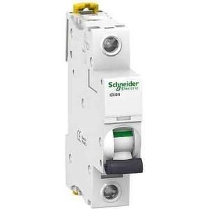 Выключатель автоматический модульный Schneider Electric 1п B 6А 6кА iC60N Acti9 SchE A9F78106 автоматический выключатель dekraft ва 103 1п 6а c 6ка 12054dek