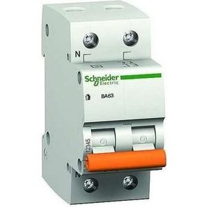 Выключатель автоматический модульный Schneider Electric 2п (1P+N) C 50А 4.5кА BA63 Домовой SchE 11218