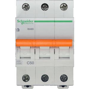 Выключатель автоматический модульный Schneider Electric 3п C 50А 4.5кА BA63 Домовой SchE 11228