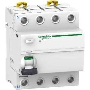 Выключатель дифференциального тока (УЗО) Schneider Electric 4п 25А 30мА тип AC iID Acti9 SchE A9R41425 узо schneider electric dekraft 2p 25а 30ма тип ac 6ка 14054dek
