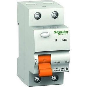 Выключатель дифференциального тока (УЗО) Schneider Electric 2п 40А 300мА тип AC ВД63 Домовой SchE 11453