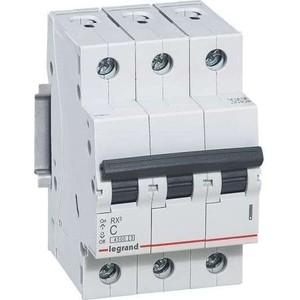 Выключатель автоматический модульный Legrand 3п C 32А 4.5кА RX3 (419711) автоматический модульный выключатель abb 3п c sh203l 4 5ка 32а 2cds243001r0324
