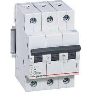 Выключатель автоматический модульный Legrand 3п C 20А 4.5кА RX3 (419709)