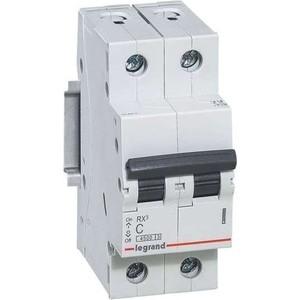 Фото - Выключатель автоматический модульный Legrand 2п C 50А 4.5кА RX3 (419702) автоматический выключатель legrand tx3 6000 тип c 2п 50а 404047