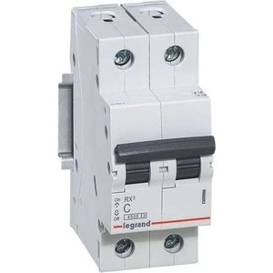 Выключатель автоматический модульный Legrand 2п C 32А 4.5кА RX3 (419700)