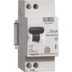 Выключатель автоматический дифференциального тока Legrand 1п (1P+N) C 10А 30мА тип AC 6кА RX3 (419397)