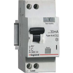 Выключатель автоматический дифференциального тока Legrand 1п (1P+N) C 6А 30мА тип AC 6кА RX3 (419396)