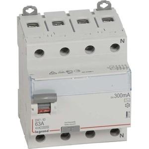 Выключатель дифференциального тока (УЗО) Legrand 4п 63А 300мА тип AC DX3 Leg 411724