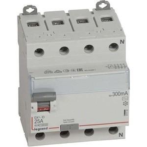 Выключатель дифференциального тока (УЗО) Legrand 4п 25А 300мА тип AC DX3 Leg 411722
