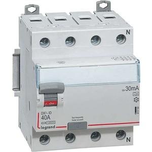 Выключатель дифференциального тока (УЗО) Legrand 4п 40А 30мА тип AC DX3 Leg 411703