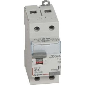 Выключатель дифференциального тока (УЗО) Legrand 2п 63А 30мА тип AC DX3 Leg 411506 выключатель автоматический дифференциального тока legrand 2п c 16а 30ма тип ac 6ка dx3 4мод leg 411158