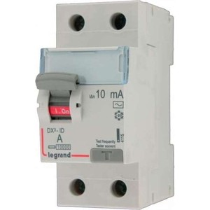 Выключатель дифференциального тока (УЗО) Legrand 2п 40А 30мА тип AC DX3 (411505)