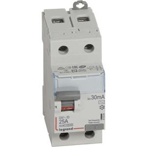 Выключатель дифференциального тока (УЗО) Legrand 2п 25А 30мА тип AC DX3 (411504)
