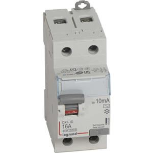 Выключатель дифференциального тока (УЗО) Legrand 2п 16А 10мА тип AC DX3 (411500)
