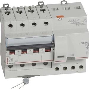 Выключатель автоматический дифференциального тока Legrand 4п C 63А 300мА тип AC 6кА DX3 7мод. Leg 411211