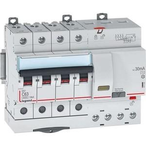Выключатель автоматический дифференциального тока Legrand 4п C 63А 30мА тип AC 6кА DX3 7мод. Leg 411192