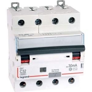 Выключатель автоматический дифференциального тока Legrand 4п C 32А 30мА тип AC 6кА DX3 4мод. Leg 411189 выключатель автоматический дифференциального тока legrand 2п c 16а 30ма тип ac 6ка dx3 4мод leg 411158