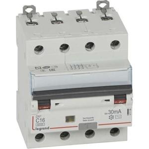 Выключатель автоматический дифференциального тока Legrand 4п C 16А 30мА тип AC 6кА DX3 4мод. Leg 411186 выключатель автоматический дифференциального тока legrand 2п c 16а 30ма тип ac 6ка dx3 4мод leg 411158