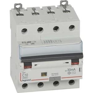 Выключатель автоматический дифференциального тока Legrand 4п C 10А 30мА тип AC 6кА DX3 Leg 411185