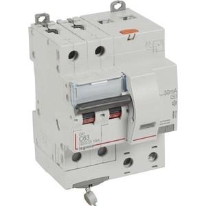 Выключатель автоматический дифференциального тока Legrand 2п C 63А 30мА тип AC 6кА DX3 4мод. Leg 411164 цена