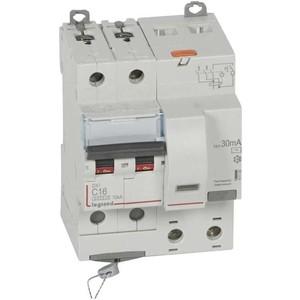 Выключатель автоматический дифференциального тока Legrand 2п C 16А 30мА тип AC 6кА DX3 4мод. Leg 411158 цена