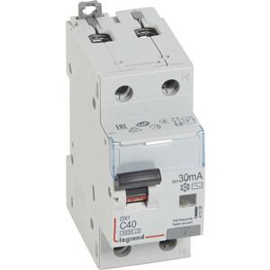 Выключатель автоматический дифференциального тока Legrand 2п (1P+N) C 40А 30мА тип AC 6кА DX3 2мод. Leg 411006 автоматический выключатель 1p 40а dekraft