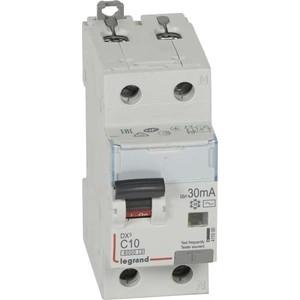 Выключатель автоматический дифференциального тока Legrand 2п (1P+N) C 10А 30мА тип AC 6кА DX3 2мод. (411000) выключатель автоматический дифференциального тока legrand 2п c 16а 30ма тип ac 6ка dx3 4мод leg 411158