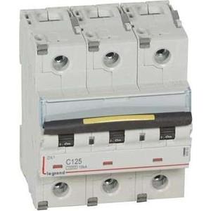 Выключатель автоматический модульный Legrand 3п C 125А 10кА/16кА DX3 Leg 409282 автоматический выключатель legrand dx3 6ka 10ка тип b 1п n 16а 407475