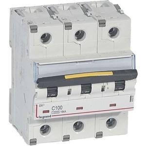 Выключатель автоматический модульный Legrand 3п C 100А 10кА/16кА DX3 (409281) цена
