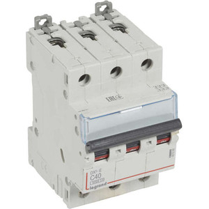 Выключатель автоматический модульный Legrand 3п C 40А 6кА DX3-E (407295) автоматический выключатель legrand dx3 e 6000 6ка тип c 3п 25а 407293