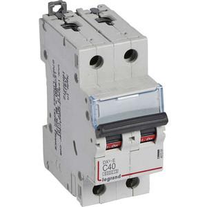 Выключатель автоматический модульный Legrand 2п C 40А 6кА DX3-E (407281)