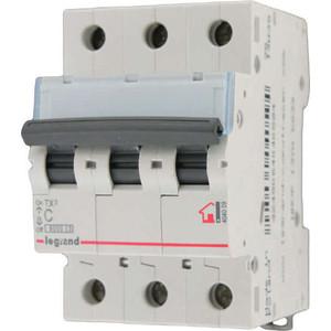 Выключатель автоматический модульный Legrand 3п C 50А 6кА TX3 (404061) выключатель автоматический модульный legrand 2п c 16а 6ка tx3 404042