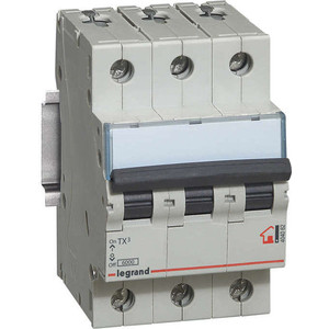 Выключатель автоматический модульный Legrand 3п C 32А 6кА TX3 (404059) выключатель автоматический модульный legrand 2п c 16а 6ка tx3 404042