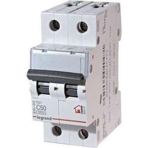 Выключатель автоматический модульный Legrand 2п C 50А 6кА TX3 (404047) выключатель автоматический модульный legrand 2п c 16а 6ка tx3 404042