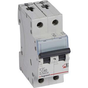 Выключатель автоматический модульный Legrand 2п C 40А 6кА TX3 (404046) выключатель автоматический модульный legrand 2п c 16а 6ка tx3 404042