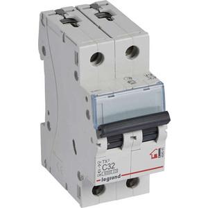 Выключатель автоматический модульный Legrand 2п C 32А 6кА TX3 (404045) выключатель автоматический модульный legrand 2п c 16а 6ка tx3 404042
