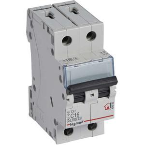 Выключатель автоматический модульный Legrand 2п C 16А 6кА TX3 (404042) выключатель автоматический модульный legrand 2п c 16а 6ка tx3 404042