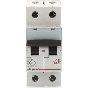 Выключатель автоматический модульный Legrand 2п C 10А 6кА TX3 (404040) выключатель автоматический модульный legrand 2п c 16а 6ка tx3 404042