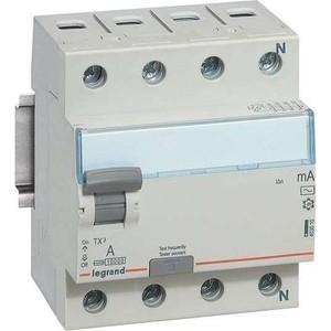 Выключатель дифференциального тока (УЗО) Legrand 4п 63А 30мА тип AC TX3 Leg 403010