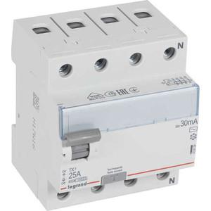 Выключатель дифференциального тока (УЗО) Legrand 4п 25А 30мА тип AC TX3 (403008)